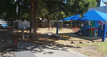 Hawthorn Childcare Center outside play area for children